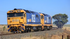 8135 and 8129 accelerate through the curve at Murtoa en route to Lubeck for refueling (bukk05) Tags: d736v wheat grain mainline victorianrailways victorianrailway vline vr victoria clydeengineering clyde canon60d canon summer artc australia sg standardgauge station diesel 2019 emd16645e3b freight flickr hp horsepower jt26c2ss locomotive loco photography photo pnruralbulk pacificnational pn yarriambiackshire yarriambiack yard tamron16300 tamron tracks train trains rp3 railpage railroad railwaystation railwaystations rail railway electromotivediesel emd engine export explore wimmera westernstandardgaugeline 81class 8129 8135 railpage:class=47 railpage:loco=8135 rpaunsw81class rpaunsw81class8135