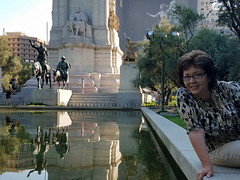 It's me again! (NataThe3) Tags: madrid spain architecture monument statue people