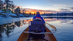 Cheryl -Ann and Dylan Canoeing the Gorge Waterway at Sunset-February 2019 (Dave Byng) Tags: people sunset canada canoe winter pacificocean britishcolumbia