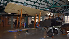 """Avro 504K c/n 927 registration G-EBJE preserved as RAF """"E449"""" and wings of Avro 548A G-EBKN (sirgunho) Tags: royal air force raf museum hendon london england united kingdom preserved aircraft aviation avro 504k cn 927 registration gebje e449 wings 548a gebkn"""