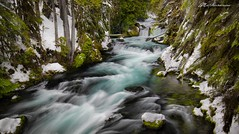 Freezing on the McKenzie River (Matt Straite Photography) Tags: water river stream oregon landscape slow color cold winter snow
