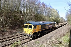 66725 Beighton (Meadowgate Lane) 15 Mar 19 (doughnut14) Tags: 66725 sunderland gbrf rail freight diesel loco oldroad beighton midland shed class66 6m73 doncaster toton cum meadowgate cwr