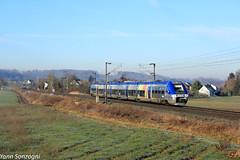 Matin givré (Lion de Belfort) Tags: train chemin de fer alsace ballersdorf b 82500 82778 sncf ter bombardier ligne 4 l4 champ givre bibi agc