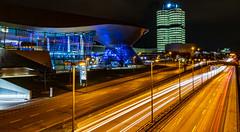 BMW World and BMW Tower in Munich (Muenocchio) Tags: munich olympiapark münchen bmw germany deutschland night