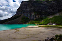 Lake Louise, Banff National Park (Chris-Creations) Tags: lake clear blue sky landscape banff park water mountain clouds sun