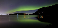 Auora Iceland 5.4.2019 #1 (ragnaolof) Tags: northernlights auroraborealis iceland reykjavík mosfellsbær hafravatn lake reflection