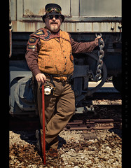 Rattle the Chain (Whitney Lake) Tags: retro train actor fantasy cosplay steampunk