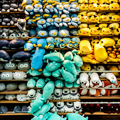 Free the Toys (bunrudwud) Tags: toys plush soft colour packed window shop crowd store nikon d5600