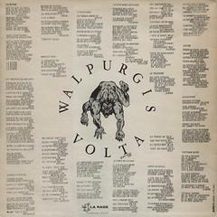 1988_Walpurgis_Volta_Walpurgis_Volta_02 (Marc Wathieu) Tags: belgium belgique belgië belgien belge music pop chanson chansonfrançaise chansonbelge frenchchanson french francophone francophile frenchspeaking cover record sleeve sleevedesign coverart 33t album vinyl 1988 walpurgisvolta rock alternatif punk rear rearcover verso arrière