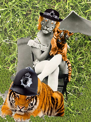 'Wildly PC'ing in the Camp!' (tishabiba) Tags: pc illusion camping artwork artphoto surrealism surreale surreal conceptual perception tish tigers