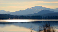 In the Scottish hills (M McBey) Tags: lake loch mountain clouds reflection scotland countryside winter