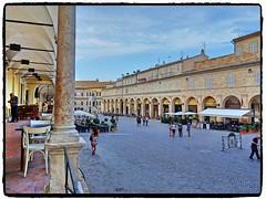 Fermo (simona300) Tags: piazza square romanesque fermo portosangiorgio marche explorer town street strada streetphotografy persone loggiato