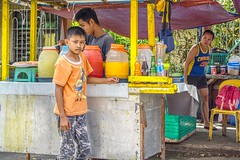 Watching me, watching you (Beegee49) Tags: street cart food drinks snacks man boy filipina watching happy planet sony a6000 silay city philippines asia happyplanet asiafavorites