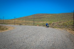 This new gravel as part of the road construction in Argentina was not rideable.