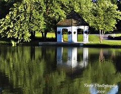 Gazebo Reflection (MaryMRevis: Empress Of Explore) Tags: explore marymrevis interesting discover gazebos gazebo photography outdoorphotography outdoors naturephotography nature seasons season reflections reflection lakes lake water views view scenery scenes scene life