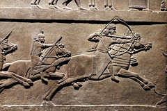 The Assyrian Royal Hunt (Detail) (calmeilles) Tags: london england unitedkingdom ashurbanipal britishmuseum middleeast nineveh