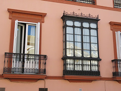 Windows & Balconies, Seville, Spain (geoff-inOz) Tags: window balcony seville andalusia building heritage architecture spain 33