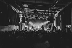 Hey Ruin (Zesk MF) Tags: heyruin music concert live band bw black white zesk cologne people stage x100f fuji dark audience crowd beer