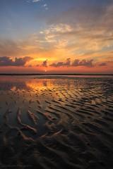 Sunset (Ziad Hunesh) Tags: zhunesh sunset canon clouds reflection qatar beach tide golden cannon 650d