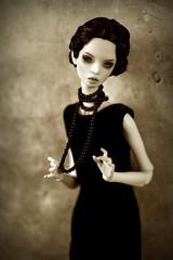 black art deco (dolls of milena) Tags: bjd resin doll popovy portrait retro art deco dark