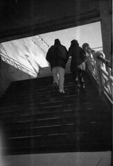 Rise (4foot2) Tags: brighton madeiradrive steps rise up walking walk people peoplewatching peopleofbrighton interestingpeople reportage reportagephotography candid analogue film filmphotography oldfilm outofdatefilm expiredfilm experimental mediumformat 6x9 620film ilford ilfordfp4 kodakbrowniesix20modelc kodakbrowniesix20 modelc kodakbrownie six20 kodak brownie boxcamera blackandwhite bw monochrome mono standdevelop rodinal 2019 fourfoottwo 4foot2 4foot2flickr 4foot2photostream