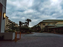Leaving The Hilton. (dccradio) Tags: myrtlebeach sc southcarolina horrycounty outdoor outside outdoors hilton hiltonhotel hiltonresort myrtlebeachhilton samsung galaxy smj727v j7v cellphone cellphonepicture february winter morning wednesday wednesdaymorning goosmorning palmtree tree trees palmtrees pavement paved driveway light illuminated sky cloud cloudscloudformation clouds building architecture
