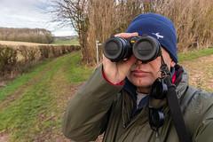 IMG_1287 (Adrian Royle) Tags: lincolnshire lincolnshirewolds outdoors walk winter selfie hat binoculars