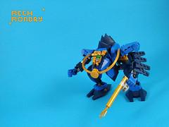 Mech Monday #10: Sub Slizer Revamp (Marin Stipkovic) Tags: lego moc myowncreation mech mecha drone robot monday custommodel bionicle brickonicle slizers sub scuba throwbot