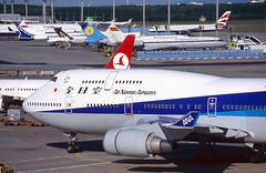 All Nippon airways 747 'JA8095' (Longreach - Jonathan McDonnell) Tags: scan scanfromaslide 2000s 2001 frankfurt frankfurtammain eddf boeing 747 747400 ana allnipponairways ja8095 1810035 tupolev tu154