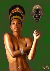 1548089546543 (alternauta) Tags: blackwoman blackbeauty woman african portraitpaintingdigitalart portrait digitalart