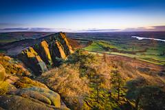 The Roaches sunset (Lukasz Lukomski) Tags: nationalpark peakdistrict landscape theroaches staffordshire leek sandstone hills unitedkingdom uk greatbritain lukaszlukomski nikond7200 sigma1020 england ridge sunset valley sky clouds