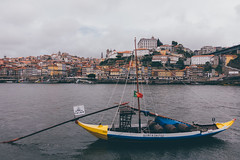 Barco Rebelo at rio Douro (]vincent[) Tags: portugal porto trip home vincent portrait us self you ginger brunch port wine calem douro river art urban sony rx 100 mk iv rebelo rabbit gaia people