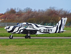 G-ZEBY Piper PA-28 Cherokee (SteveDHall) Tags: aircraft airport aviation airfield aerodrome aeroplane airplane 2019 bpl blk egnh blackpool blackpoolairport generalaviation ga lightaircraft gzeby piper pa28 cherokee piperpa28cherokee piperpa28 pipercherokee