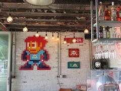 Space Invader aliases in the HotShot bar Hong Kong (tofz4u) Tags: hongkong china chine hk streetart bar artderue invader spaceinvader spaceinvaders mosaïque mosaic tile hotshot repulsebay pa1061 megaman hk55 pa873 pa860 insider alias aliases café bistrot restaurant