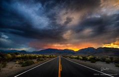 Road to Sierra (Riccardo Maria Mantero) Tags: travel road landscape street asphalt straight clouds sky storm usa california
