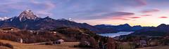 Serre-Ponçon (jpmiss) Tags: 70300mm coucherdesoleil serreponçon paysage prunières sunset paca alps landscape 6d canon jpmiss panorama panoramique panoramic alpes hautesalpes france fr