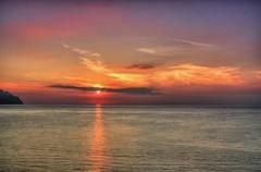 sunrise view near the Hotel Luna Convento, Amalfi - Atrani. Italy (Janusz W.) Tags: amalfi amalficoast italien italy italia italian water sky sunrise clouds skye pentax