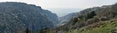 Into the Light (Michael J Lawlor) Tags: cheddargorge cheddar gorge somerset panorama somersetlevels rocks geology