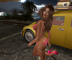 First Wave (Amanda Keen) Tags: secondlifevirtualworld bikini tour beach