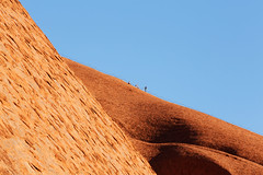 Uluru - Don't Climb The Rock! (Rob Harris Photography) Tags: australia outdoors outback country red redcentre desert remote wilderness wild sacred sacredplace dreamtime spirit anangu traditionalowners conservation education tourist tourism northernterritory colours climbers