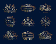 Luxury Labels Design Set (gfx_alibaba) Tags: emblem badge design stamp label set banner sign symbol tag element sticker style insignia seal crest shield ribbon quality premium prestige ornament luxury royal king brand queen company music windrose hotel grand restaurant zigzag fashion floral roses flowers stars decoration flag arms retro vintage high class flat isolated vector illustration