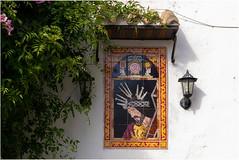 In Vejer de la Frontera, Spain (Janos Kertesz) Tags: christus religion church mosaic building tourist outdoor decoration arch heritage detail religious cathedral architecture tourism vejerdelafrontera andalusia spain