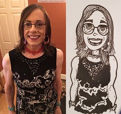 November 2018 - and January 2019 (Girly Emily) Tags: crossdresser cd tv tvchix trans transvestite transsexual tgirl tgirls convincing feminine girly cute pretty sexy transgender boytogirl mtf maletofemale xdresser gurl glasses dress hull smile art artist drawing portrait cartoon talent artistic collage composite