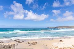 A beautiful spot to watch the waves at Sennen Cove, Cornwall (Zoë Power) Tags: sennenbeach turquoisesea ukcoast sandybeach sennen uk sennencove blueskies waves cornishcoast beach aqua cornwall tropical sea