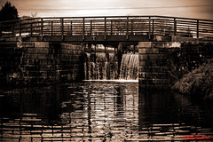 Canal Bridge 11 (red.richard) Tags: forthclyde canal scotland bw sepia water bridge 11 nikon d800 lock