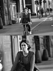 [La Mia Città][Pedala] (Urca) Tags: milano italia 2018 bicicletta pedalare ciclista ritrattostradale portrait dittico bike bicycle nikondigitale scéta biancoenero blackandwhite bn bw 11834