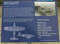Vought F4U-4 Corsair Sign (Serendigity) Tags: arizona pimaairspacemuseum tucson usa unitedstates aircraft aviation hangar indoors museum unitedstatesofamerica