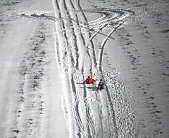 winter fun (Redheadwondering) Tags: sonyα7ii snow salisburyplain wiltshire winter landscape minolta minolta100200mm lines sledging children fun