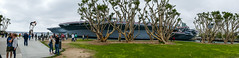 Tuna Harbor Park Panorama (Serendigity) Tags: cv41 california navy pacificocean sandiego usa usn ussmidway unitedstates aircraftcarrier floating heritage maritime museum ocean sea seafront shoreline trees waterfront unitedstatesofamerica
