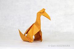 ケツァルコアトルス / Quetzalcoatlus (Gen Hagiwara) Tags: origami paper folding art craft paperdraft prehistoric quetzalcoatlus genhagiwara pterosaur